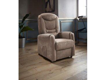 Places of Style TV-Sessel »Tamworth«, in Größe S, wahlweise mit Motor und Aufstehhilfe, braun, Luxus-Microfaser