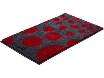 Badematte »Colani 16« Colani, Höhe 24 mm, rutschhemmend beschichtet, fußbodenheizungsgeeignet, rot, rechteckig 50x60 cm