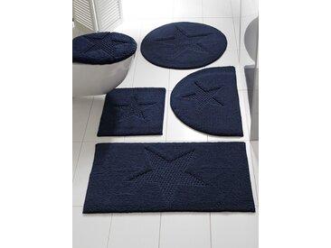 heine home Badteppich mit Stern-Motiv, blau, ca. 50/80 cm, halbrund