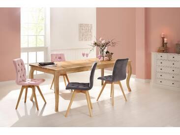 Premium by Home affaire Esstisch »Felix«, mit eckiger Tischplatte und klassisch geschwungenen Beinen, Premium collection by Home affaire