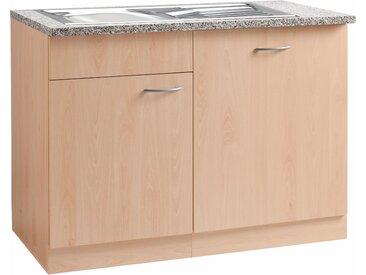 wiho Küchen Spülenschrank »Kiel« 110 cm breit, inkl. Tür/Griff/Sockel für Geschirrspüler, beige