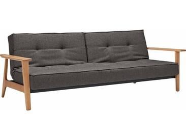 INNOVATION™ Schlafsofa »Splitback Frej«, mit Armlehnen, in skandinavischem Design, grau, Web fein FLASHTEX