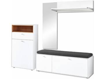 GERMANIA Garderoben-Set »Design2« (5-tlg.), weiß