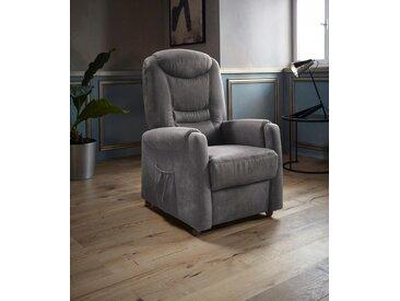 Places of Style TV-Sessel »Tamworth«, in Größe S, wahlweise mit Motor und Aufstehhilfe, grau, Luxus-Microfaser