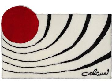 Badematte »Colani 2« Colani, Höhe 24 mm, rutschhemmend beschichtet, fußbodenheizungsgeeignet, weiß, quadratisch 60x60 cm