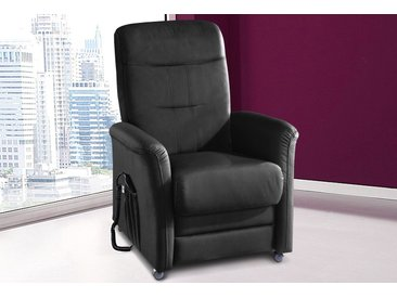 sit&more TV-Sessel, wahlweise mit Motor und Aufstehhilfe, schwarz, NaturLEDER®