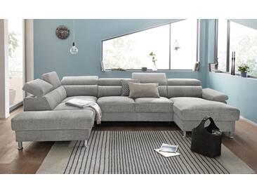 Nova Via Wohnlandschaft, wahlweise mit Bettfunktion, braun, Aqua Clean Pascha