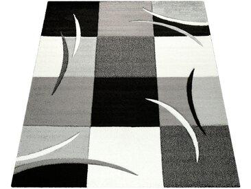 Läufer »Diamond 665«, Paco Home, rechteckig, Höhe 18 mm, 3D-Design, Kurzflor mit Karo Muster, schwarz