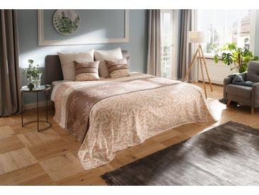 Tagesdecke »Bela«, my home, auch als Tischdecke und Sofaüberwurf einsetzbar, beige, Baumwolle, 140x210 cm