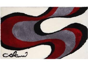 Badematte »Colani 11« Colani, Höhe 24 mm, rutschhemmend beschichtet, fußbodenheizungsgeeignet, weiß, quadratisch 60x60 cm