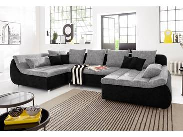 Benformato City Wohnlandschaft, wahlweise mit Bettfunktion, BENFORMATO CITY COLLECTION, schwarz, Microfaser PRIMABELLE® / Struktur