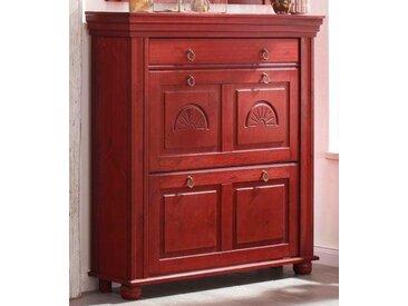 Home affaire Schuhkommode »München«, mit dekorativen Fräsungen, Breite 109 cm, rot