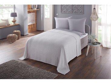 Tagesdecke »Nora«, Home affaire, auch als Sofaüberwurf verwendbar, grau, 140 cm x 210 cm