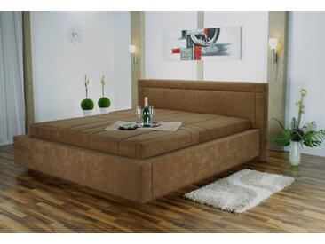 Westfalia Schlafkomfort Polsterbett, mit Bettkasten, braun, 130 cm x 229 cm x 42 cm