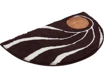 Badematte »Colani 18« Colani, Höhe 24 mm, rutschhemmend beschichtet, fußbodenheizungsgeeignet, braun, halbrund 50x80 cm
