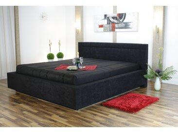 Westfalia Schlafkomfort Polsterbett, mit Bettkasten, schwarz, 170 cm x 229 cm x 34 cm