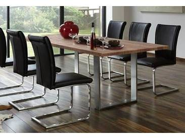 NIEHOFF SITZMÖBEL Esstisch »Set Line«, mit eleganten Metallkufen, Breite 220 cm, braun
