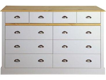 Home affaire Kommode »Sandringham«, mit 10 Schubladen, Breite 144 cm, grau