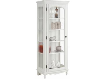 Premium collection by Home affaire Vitrine »Katarina«, mit Glaseinsatz in der Holztür, Korpus aus massiver Buche, Breite 72 cm, beige