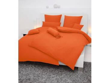 Bettwäsche »Piano«, Janine, einfarbig gehalten, orange, Soft-Seersucker