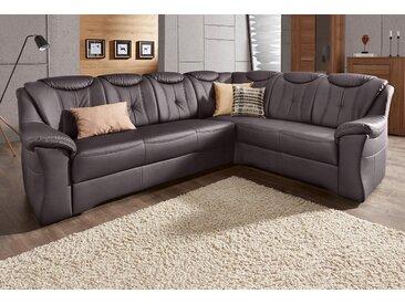 sit&more Ecksofa, mit langem Schenkel, wahlweise mit Bettfunktion, braun, NaturLEDER®