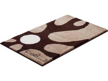 Badematte »Colani 12« Colani, Höhe 24 mm, rutschhemmend beschichtet, fußbodenheizungsgeeignet, braun, quadratisch 60x60 cm
