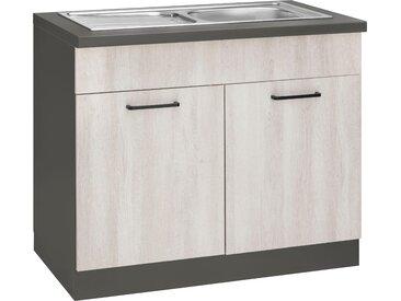 wiho Küchen Spülenschrank »Esbo« 100 cm breit, beige