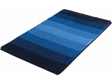 Badematte »Palace« MEUSCH, Höhe 23 mm, rutschhemmend beschichtet, fußbodenheizungsgeeignet, blau, rechteckig 60x100 cm
