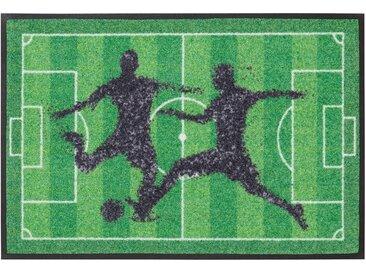 Fußmatte »Fußball«, my home, rechteckig, Höhe 7 mm, grün, 50x75 cm