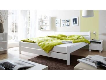 Ticaa Bett »Bora« in diversen Breiten, Kiefer, weiß, Liegefläche 140x200 cm