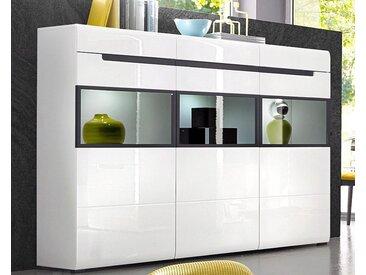 Highboard, Breite 180 cm, Trendmanufaktur, weiß