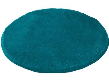 Badematte »Mona« MEUSCH, Höhe 30 mm, rutschhemmend beschichtet, fußbodenheizungsgeeignet, blau, rund Ø 80 cm