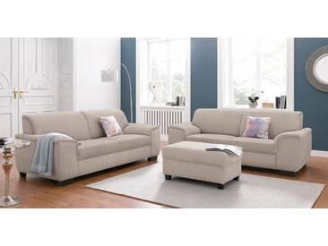 DOMO collection Garnitur: 2-Sitzer und 2,5-Sitzer, beige, Struktur