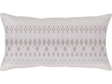 Kissenbezug »Velda«, Curt Bauer, mit gemusterten Streifen, beige, Mako-Brokat-Damast, 1x 40x80 cm