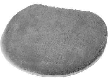 Badematte »Soft« Kleine Wolke, Höhe 20 mm, rutschhemmend beschichtet, grau, WC-Deckelbezug 47x50 cm