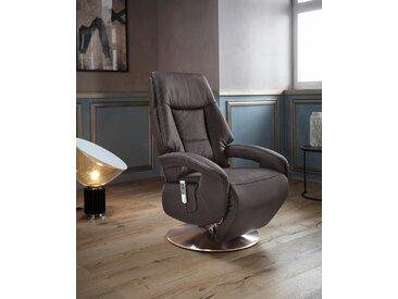 Places of Style TV-Sessel »Launceston«, in Größe L, wahlweise mit Motor und Aufstehhilfe, braun, NaturLEDER®