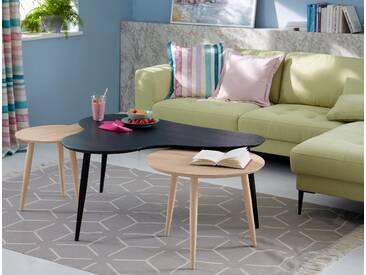 GMK Home & Living Couchtisch «Calluna», mit elegant geschwungener Tischplatte in modernem Design, Breite 120 cm, Guido Maria Kretschmer Home&Living, schwarz