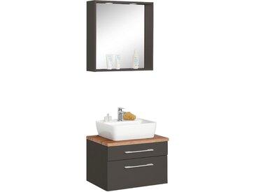 HELD MÖBEL Waschtisch-Set »Davos«, (Set, 2-tlg), mit Spiegel, grau