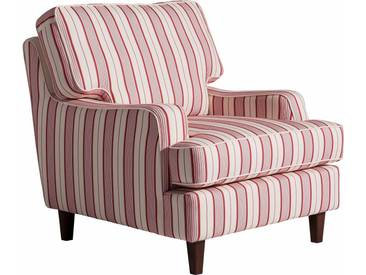 Max Winzer® Sessel »Penny«, im Retrodesign, rot, Flachgewebe 20655 STREIFEN