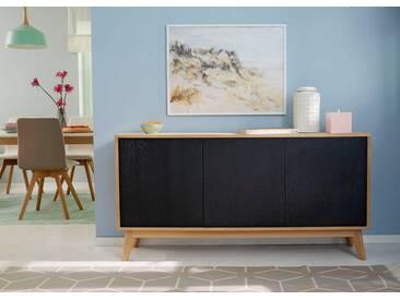 GMK Home & Living Großes Sideboard «Calluna», im modernen, skandinavischen Design, Breite/Höhe 158/80 cm, Guido Maria Kretschmer Home&Living, schwarz