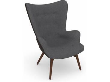Max Winzer® build-a-chair Hochlehner Stuhlsessel »Arne« im Retrolook, zum Selbstgestalten, grau