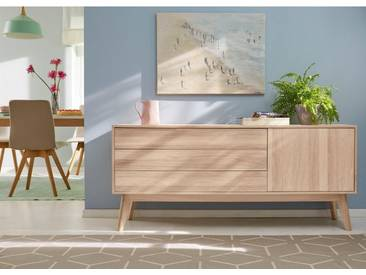 GMK Home & Living Sideboard «Calluna», im trendigen, skandinavischen Design, Breite 160 cm, Guido Maria Kretschmer Home&Living, beige