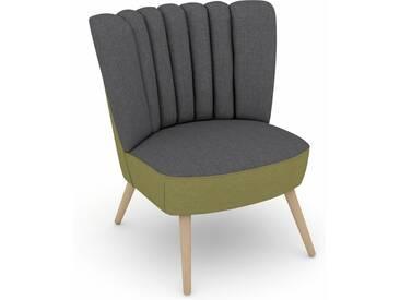Max Winzer® build-a-chair Stuhlsessel »Aspen« im Retrolook, zum Selbstgestalten, grau