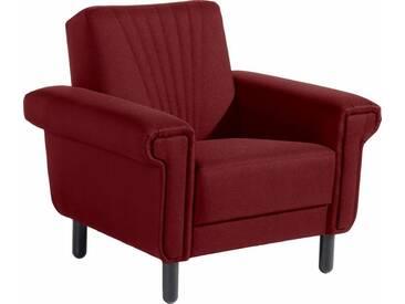 Max Winzer® Sessel »Jenne« im Retro-Look, Breite 93 cm, rot, Strukturgewebe 16523