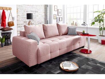 COLLECTION AB Schlafsofa, inklusive Bettkasten und Federkern, rosa, Struktur