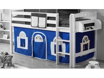 Ticaa Vorhang-Set, Landhausoptik, blau