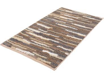 Badematte »Happy« MEUSCH, Höhe 12 mm, rutschhemmend beschichtet, fußbodenheizungsgeeignet, grau, quadratisch 55x55 cm