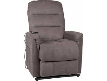 Duo Collection TV-Sessel, mit Aufstehhilfe XXL, bis zu 150 KG belastbar, braun, Stoff