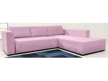 TOM TAILOR Polsterecke M »HEAVEN STYLE COLORS«, wahlweise mit Bettfunktion und Bettkasten, rosa, Struktur fein TBO