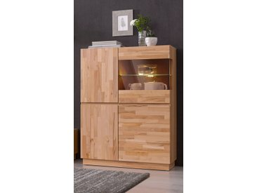 Highboard, Höhe 120 cm, Neckermann, braun
